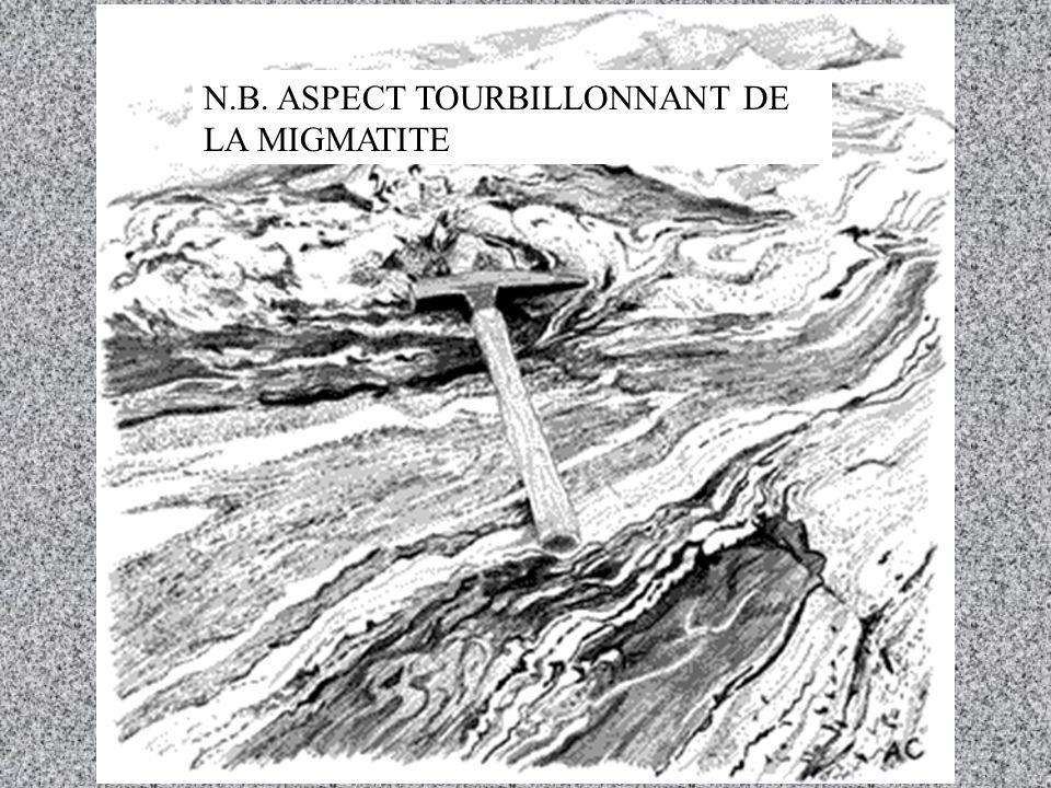 N.B. ASPECT TOURBILLONNANT DE LA MIGMATITE