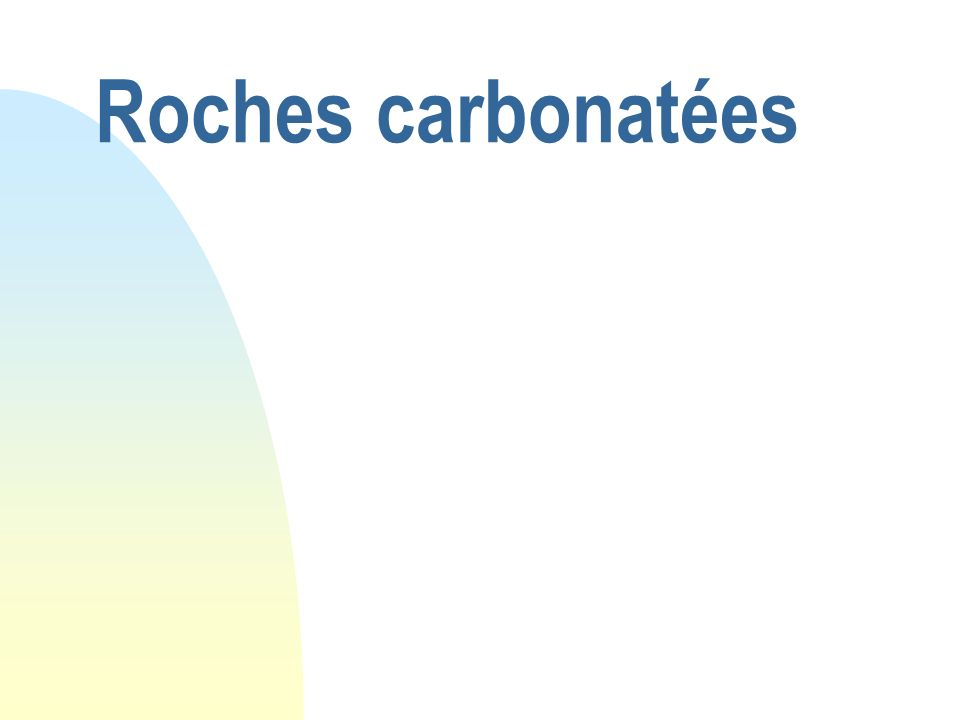 Roches carbonatées