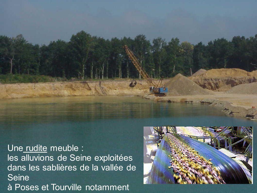 Une rudite meuble : les alluvions de Seine exploitées dans les sablières de la vallée de Seine à Poses et Tourville notamment