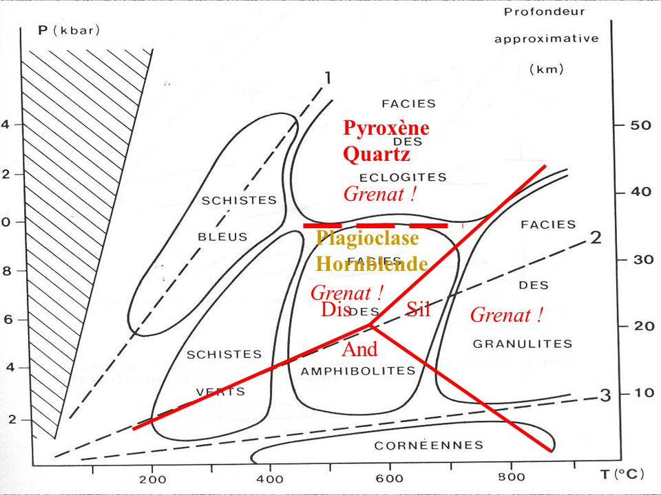 Dis Sil And Pyroxène Quartz Grenat ! Plagioclase Hornblende