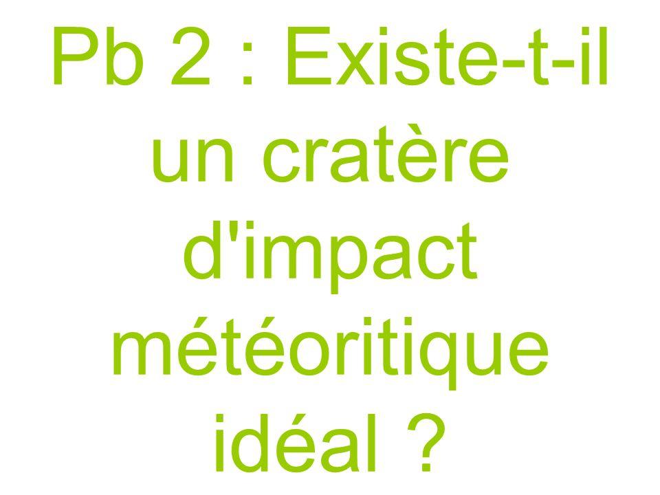Pb 2 : Existe-t-il un cratère d'impact météoritique idéal ?