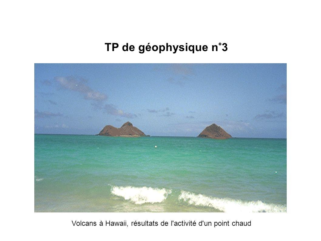 TP de géophysique n°3 Volcans à Hawaii, résultats de l'activité d'un point chaud