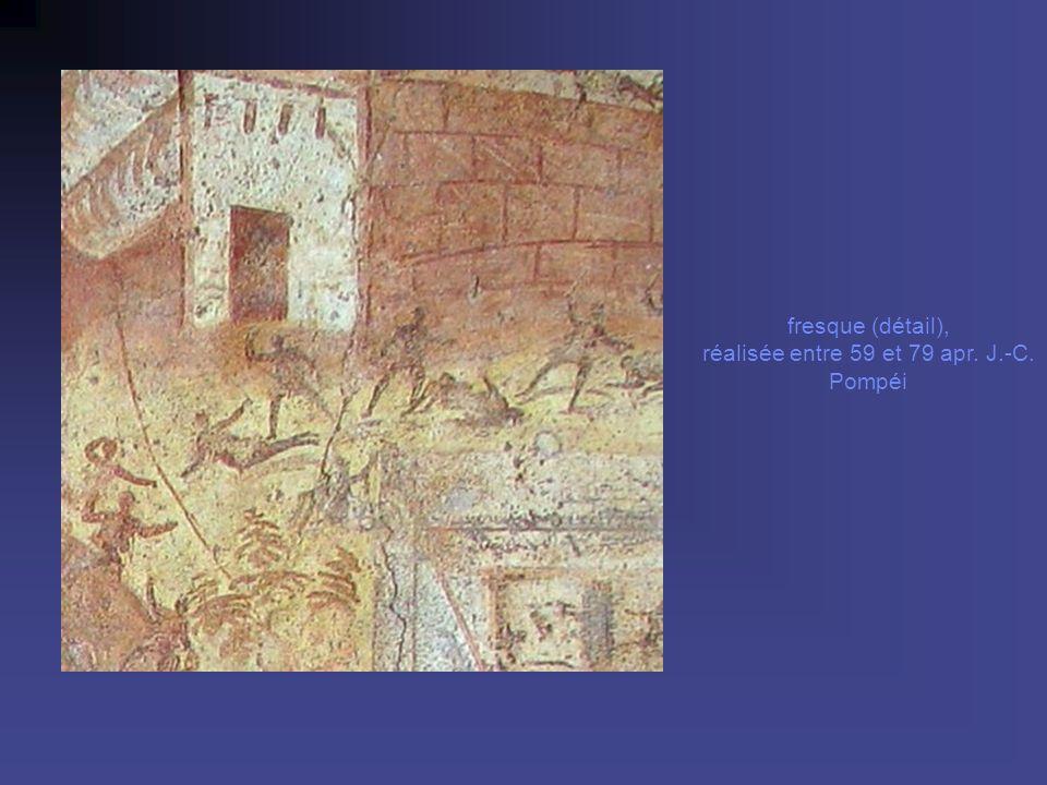fresque (détail), réalisée entre 59 et 79 apr. J.-C. Pompéi