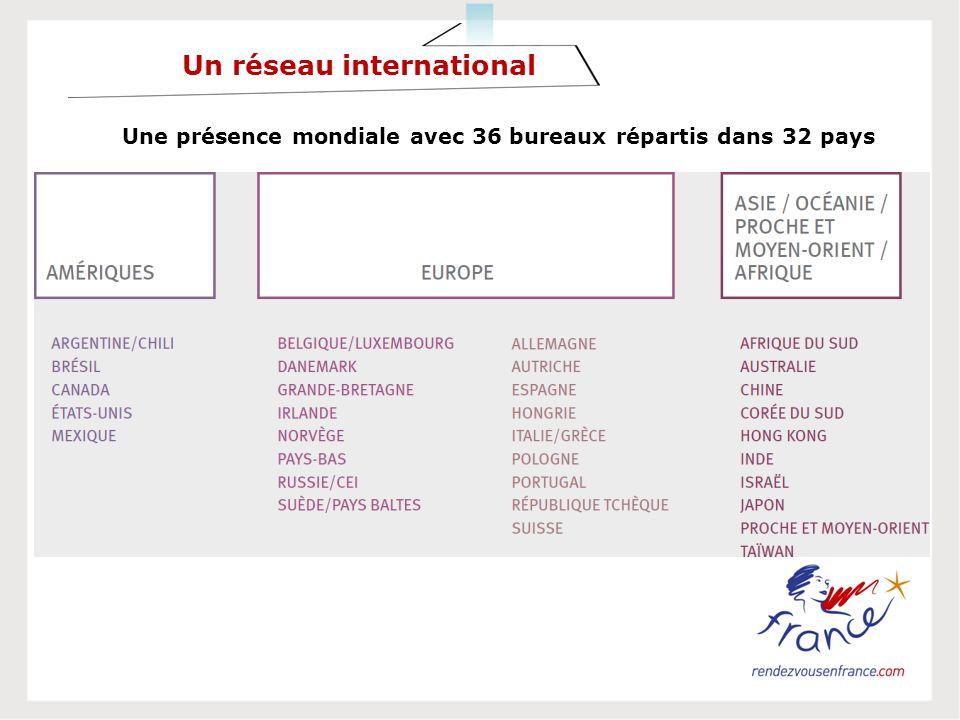 Une présence mondiale avec 36 bureaux répartis dans 32 pays Un réseau international