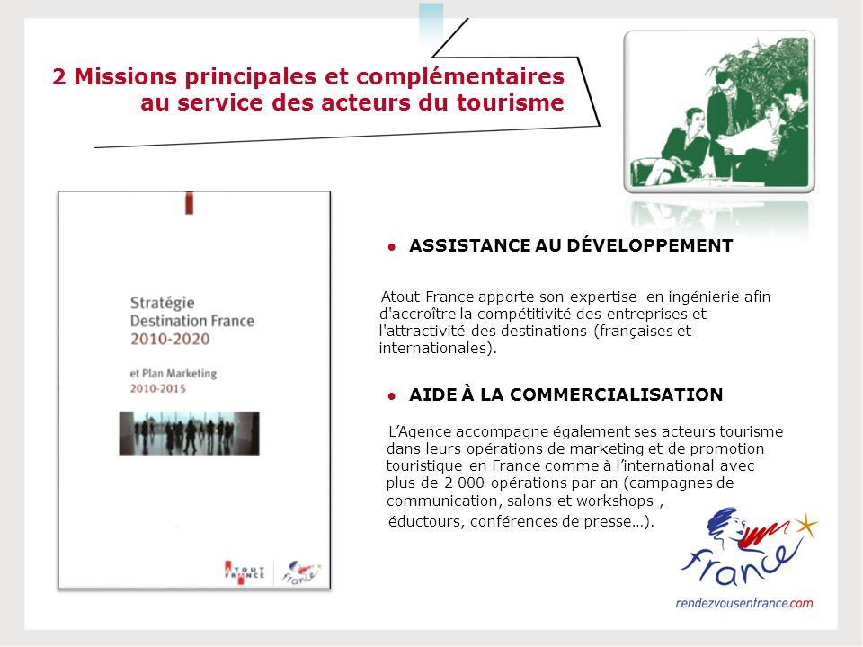 Atout France apporte son expertise en ingénierie afin d'accroître la compétitivité des entreprises et l'attractivité des destinations (françaises et i