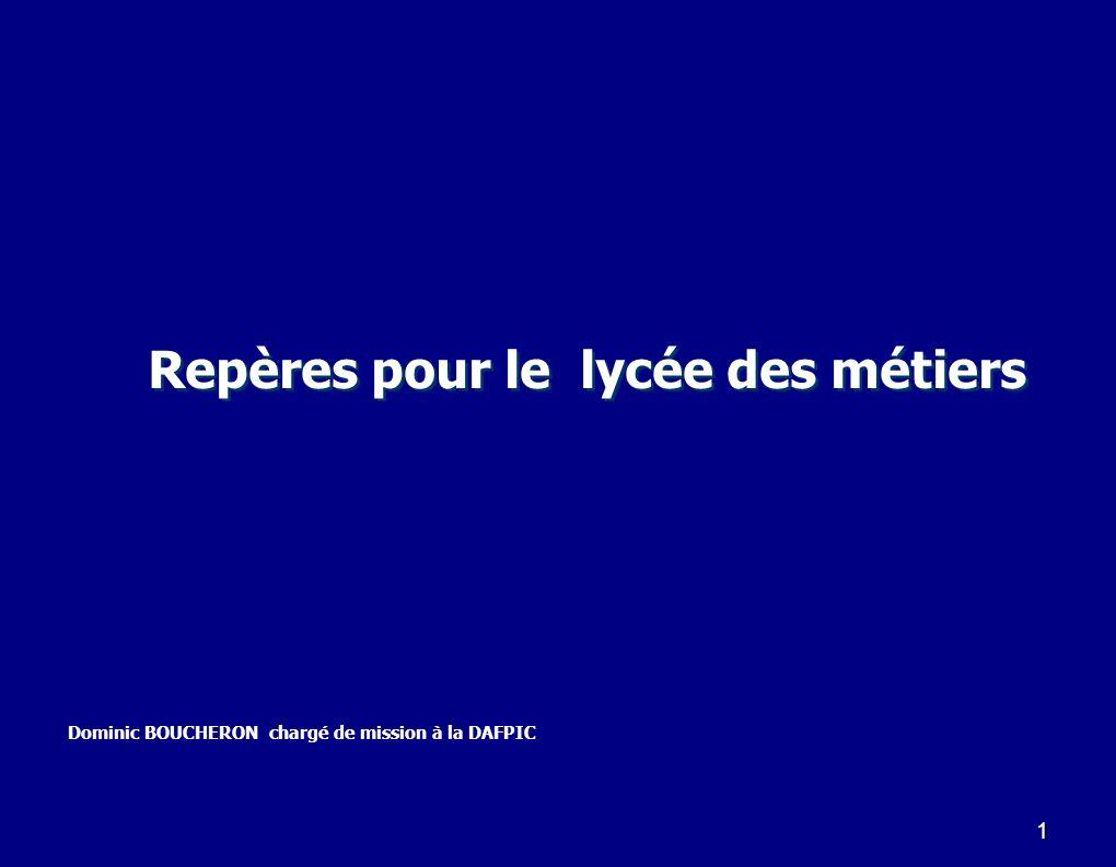 42 Indicateurs « lycée des métiers » (suite) 5.