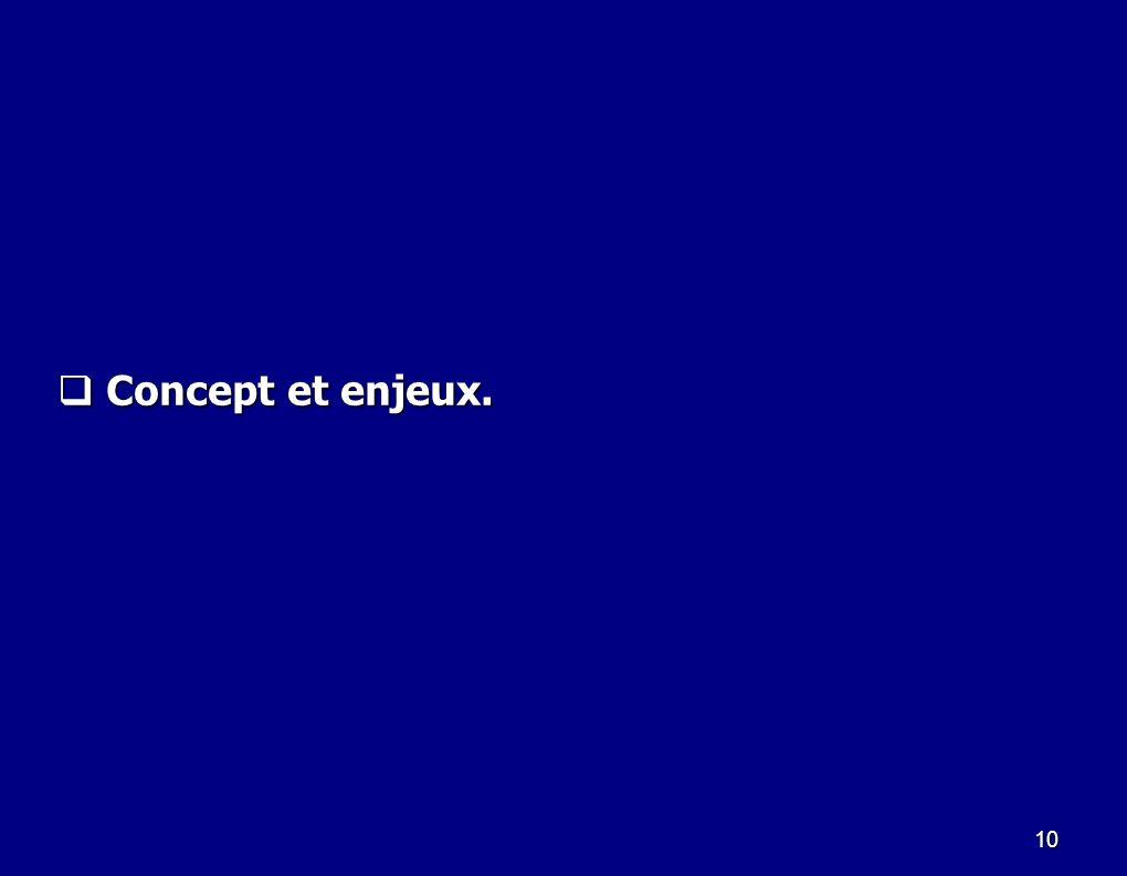 10 Concept et enjeux. Concept et enjeux.