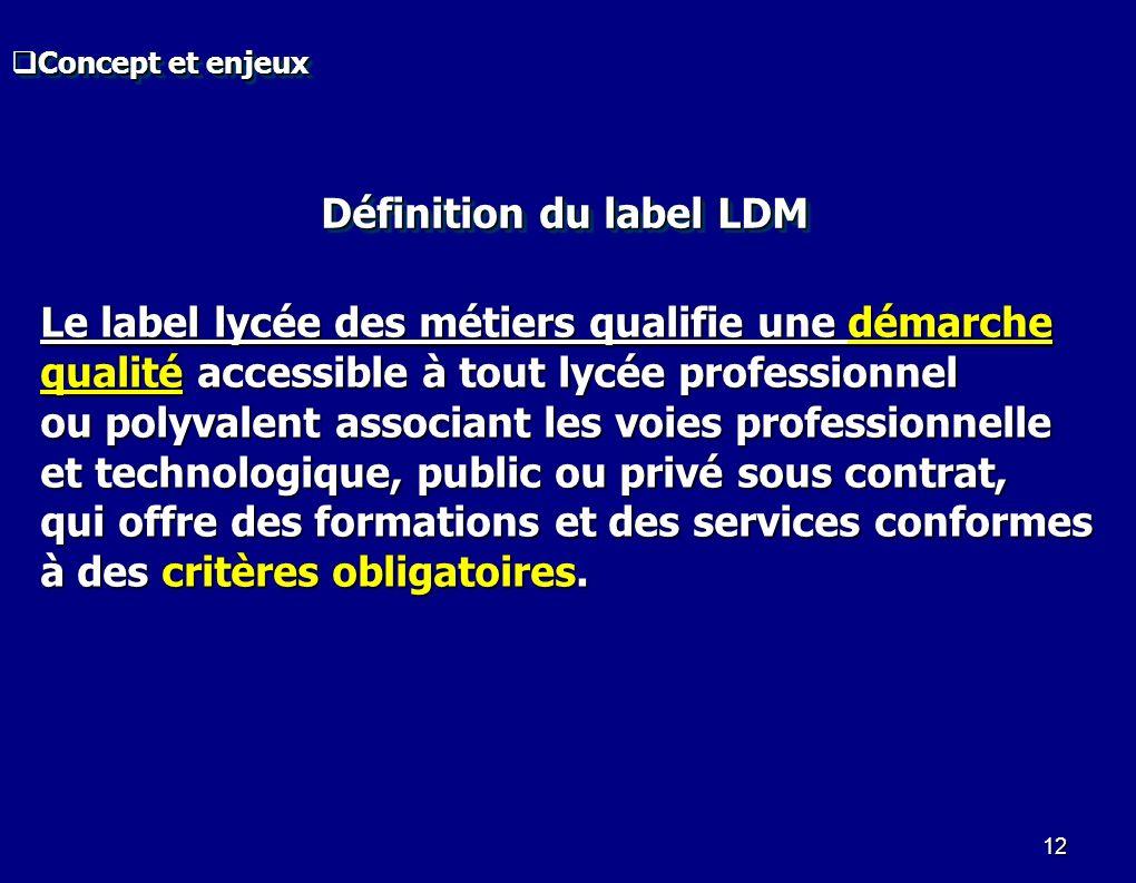 12 Le label lycée des métiers qualifie une démarche qualité accessible à tout lycée professionnel ou polyvalent associant les voies professionnelle et