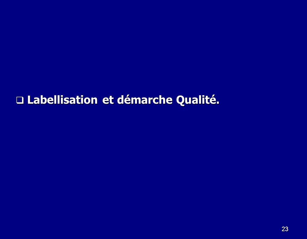23 Labellisation et démarche Qualité. Labellisation et démarche Qualité.