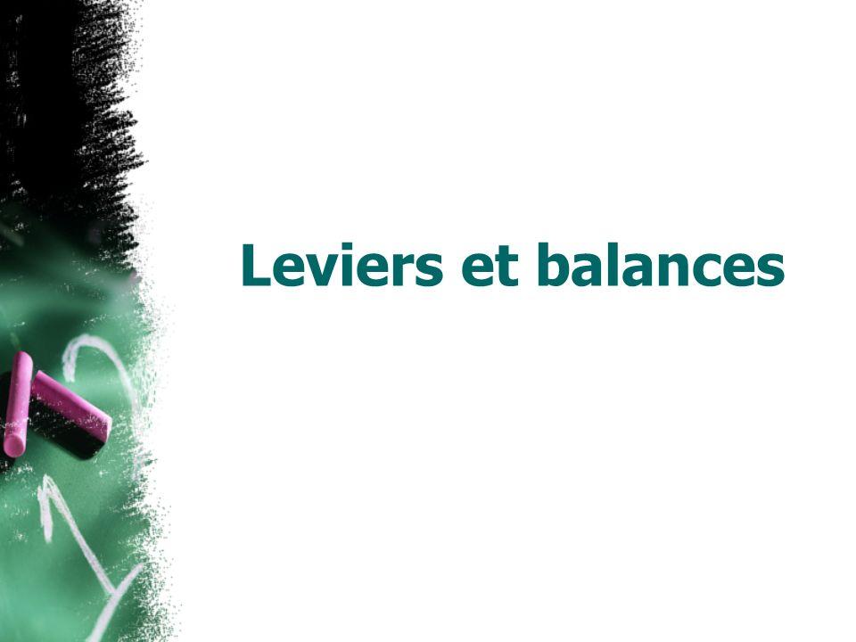 Leviers et balances