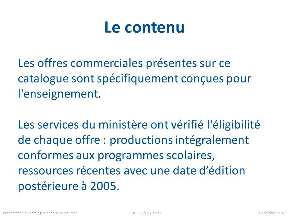 Le contenu Les offres commerciales présentes sur ce catalogue sont spécifiquement conçues pour l'enseignement. Les services du ministère ont vérifié l