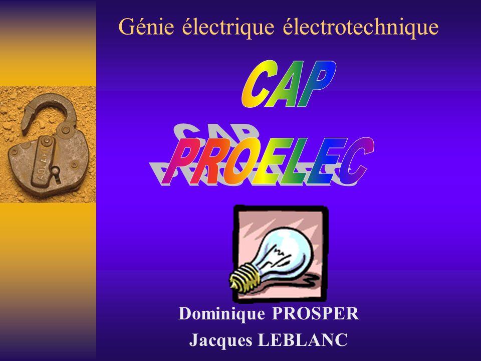 Génie électrique électrotechnique Dominique PROSPER Jacques LEBLANC