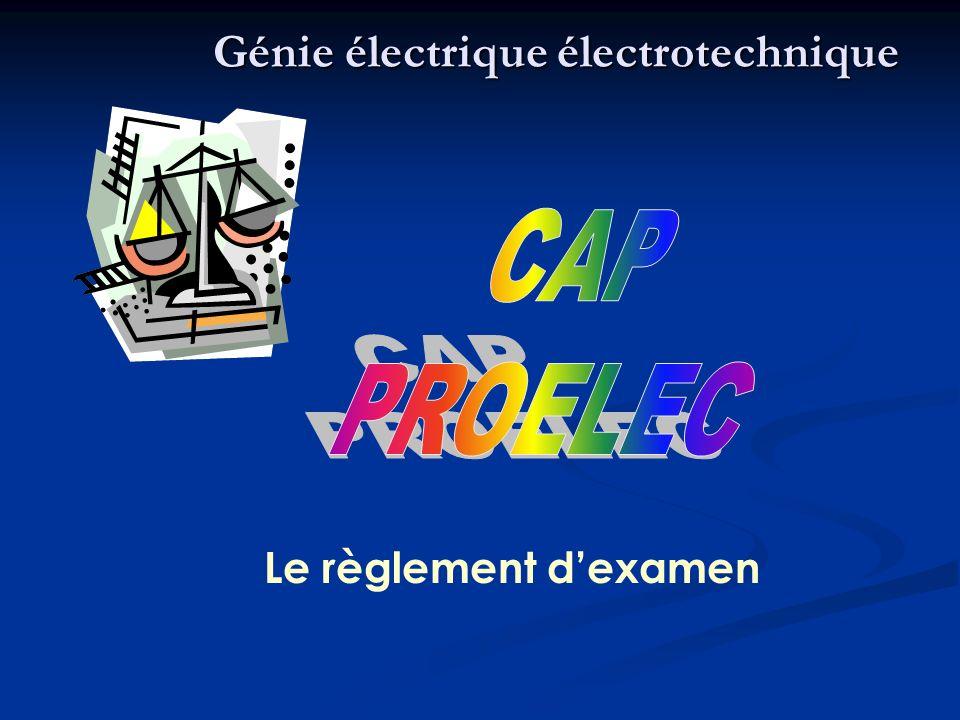 Le règlement dexamen Génie électrique électrotechnique