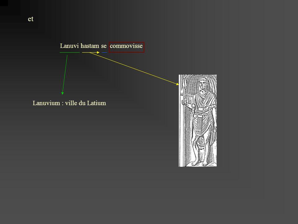 Lanuvi hastam se commovisse et Lanuvium : ville du Latium
