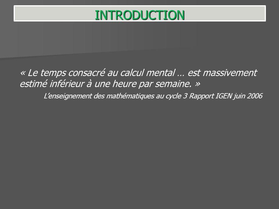 « Le calcul instrumenté nest lobjet dun apprentissage organisé que pour un très faible minorité denseignants.