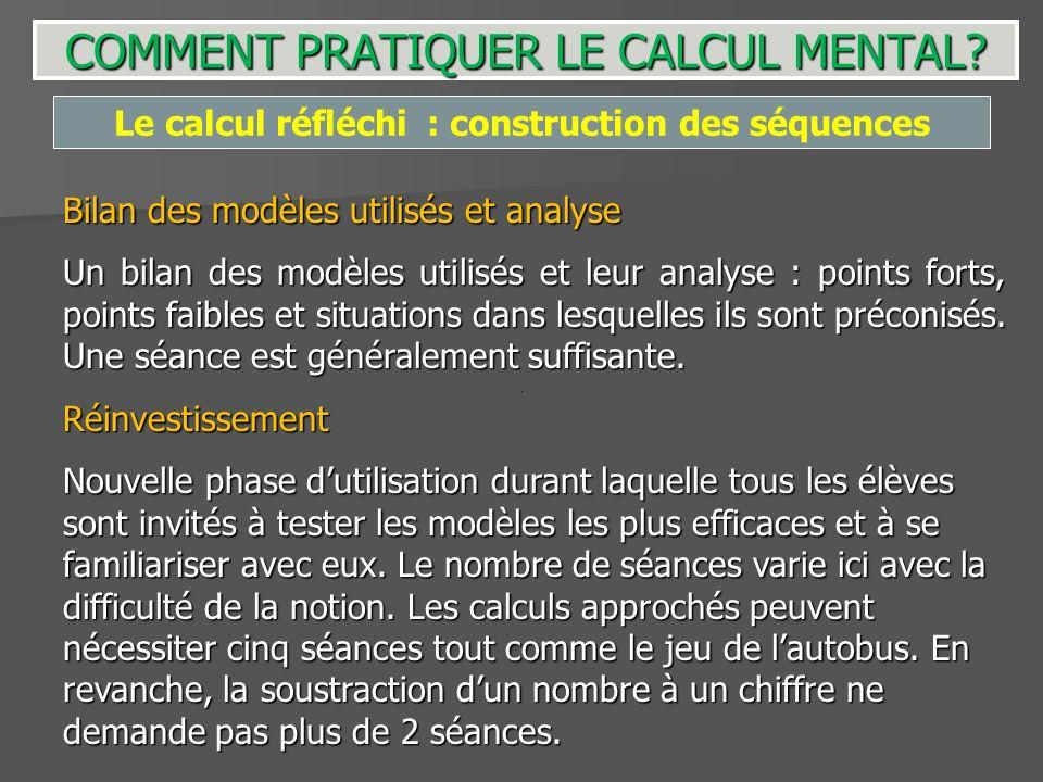 Bilan des modèles utilisés et analyse Un bilan des modèles utilisés et leur analyse : points forts, points faibles et situations dans lesquelles ils s