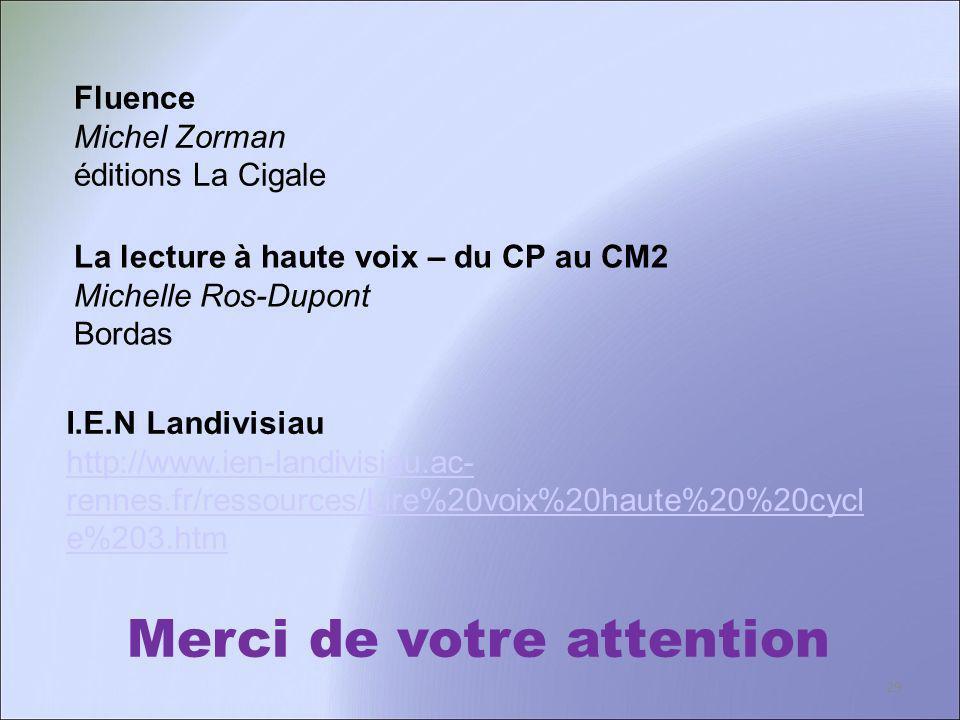 Merci de votre attention La lecture à haute voix – du CP au CM2 Michelle Ros-Dupont Bordas I.E.N Landivisiau http://www.ien-landivisiau.ac- rennes.fr/