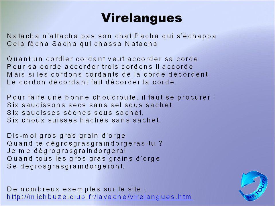 Virelangues 31