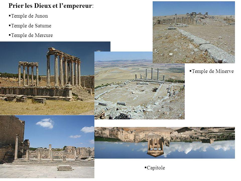 Prier les Dieux et lempereur: Temple de Junon Temple de Saturne Temple de Mercure Capitole Temple de Minerve