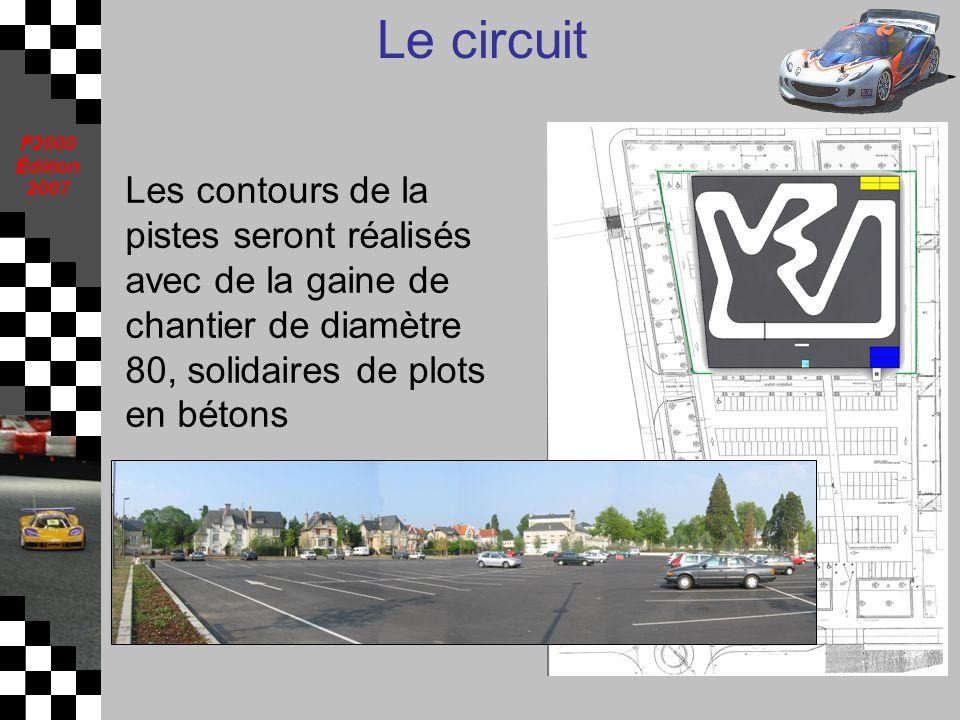 F2000 Édition 2007 Le circuit Les contours de la pistes seront réalisés avec de la gaine de chantier de diamètre 80, solidaires de plots en bétons