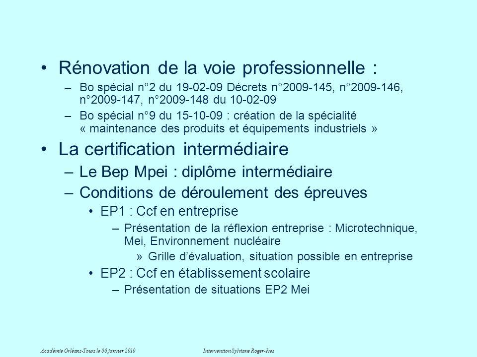 Rénovation de la voie professionnelle : –Bo spécial n°2 du 19-02-09 Décrets n°2009-145, n°2009-146, n°2009-147, n°2009-148 du 10-02-09 –Bo spécial n°9