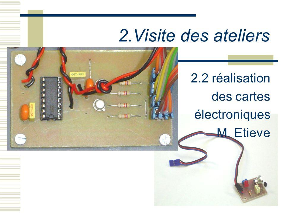 2.Visite des ateliers 2.2 réalisation des cartes électroniques M. Etieve