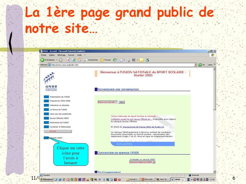 11/02/200527 LES STATISTIQUES SPORTIVES Une fonctionnalité permettant de mesurer la vitalité du sport scolaire dans le menu « gestion administrative »