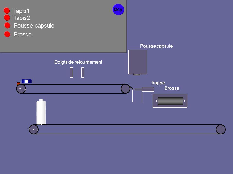 Dcy Pousse capsule Tapis1 Tapis2 Doigts de retournement Brosse Pousse capsule Brosse trappe
