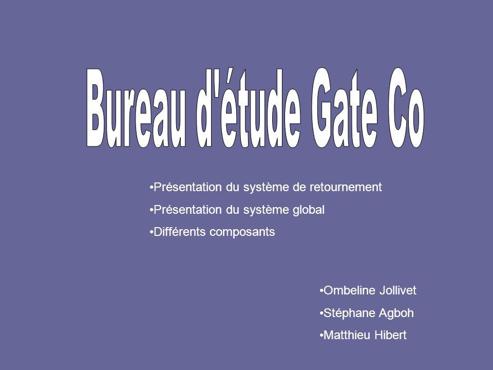 Présentation du système de retournement Présentation du système global Différents composants Ombeline Jollivet Stéphane Agboh Matthieu Hibert
