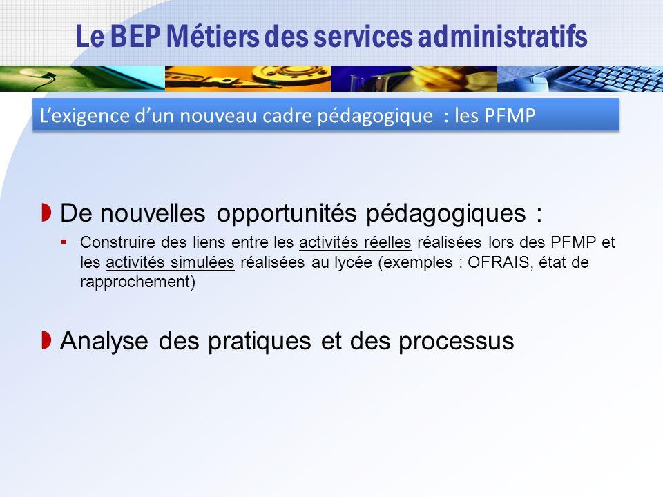 Le BEP Métiers des services administratifs Un référentiel de certification Extrait du référentiel : Activités administratives à caractère organisation