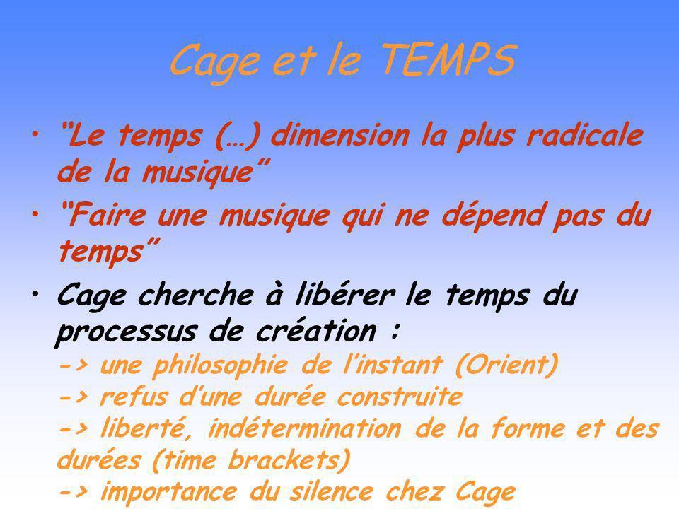 Le traitement du TIMBRE Produire de la musique avec les matériaux du XX ème (Credo, 1937). Expérimentation Recherche dès les années 30 des sonorités s