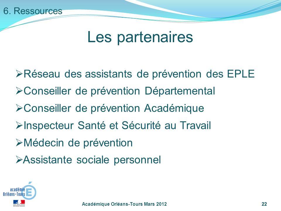22 Réseau des assistants de prévention des EPLE Conseiller de prévention Départemental Conseiller de prévention Académique Inspecteur Santé et Sécurit