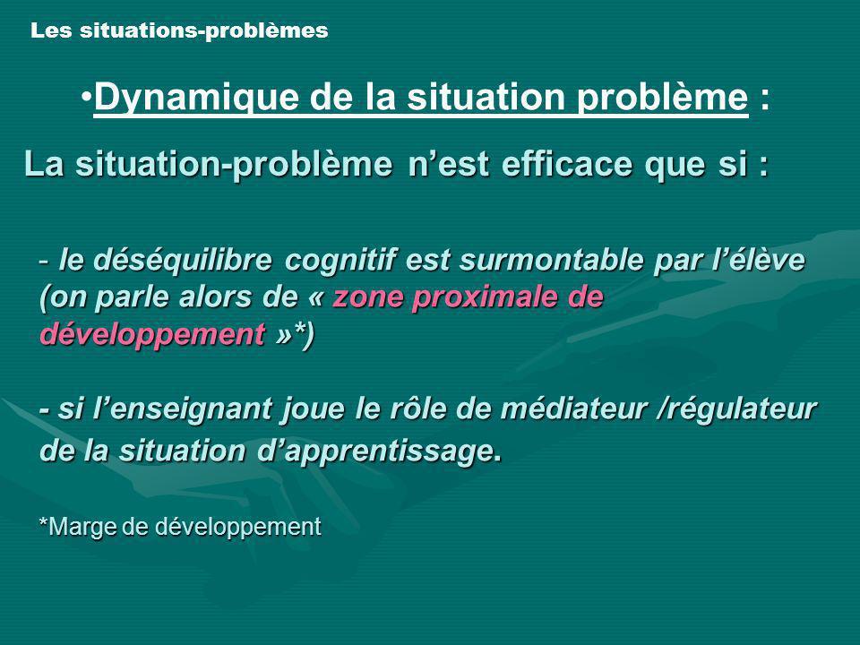 - le déséquilibre cognitif est surmontable par lélève (on parle alors de « zone proximale de développement »*) - si lenseignant joue le rôle de médiat
