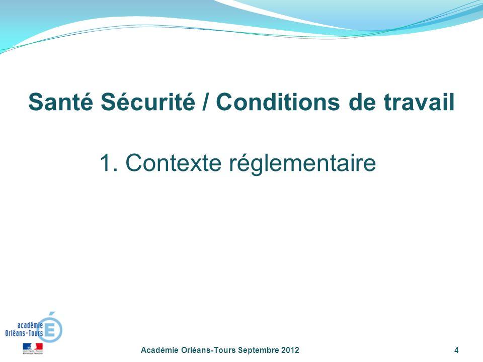 Académie Orléans-Tours Septembre 20124 1.