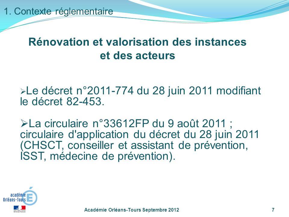 Le décret n°2011-774 du 28 juin 2011 modifiant le décret 82-453.