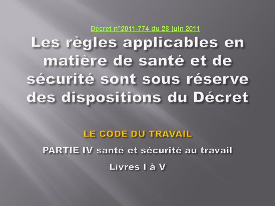 Décret n°2011-774 du 28 juin 2011