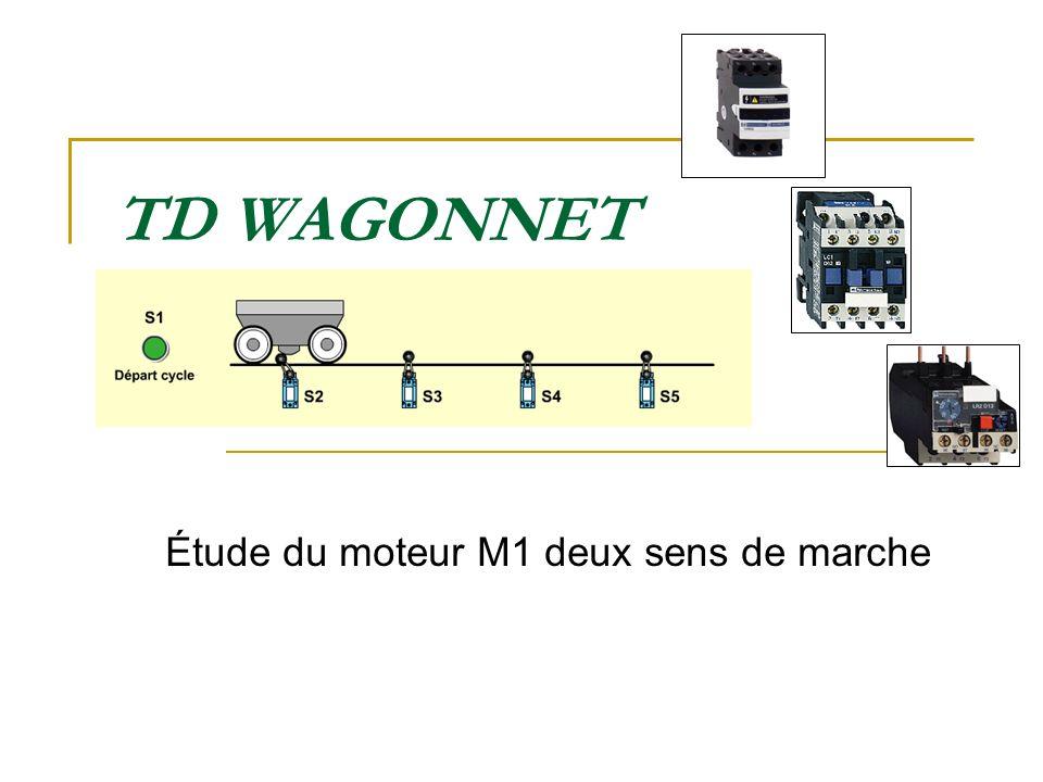 TD WAGONNET Étude du moteur M1 deux sens de marche