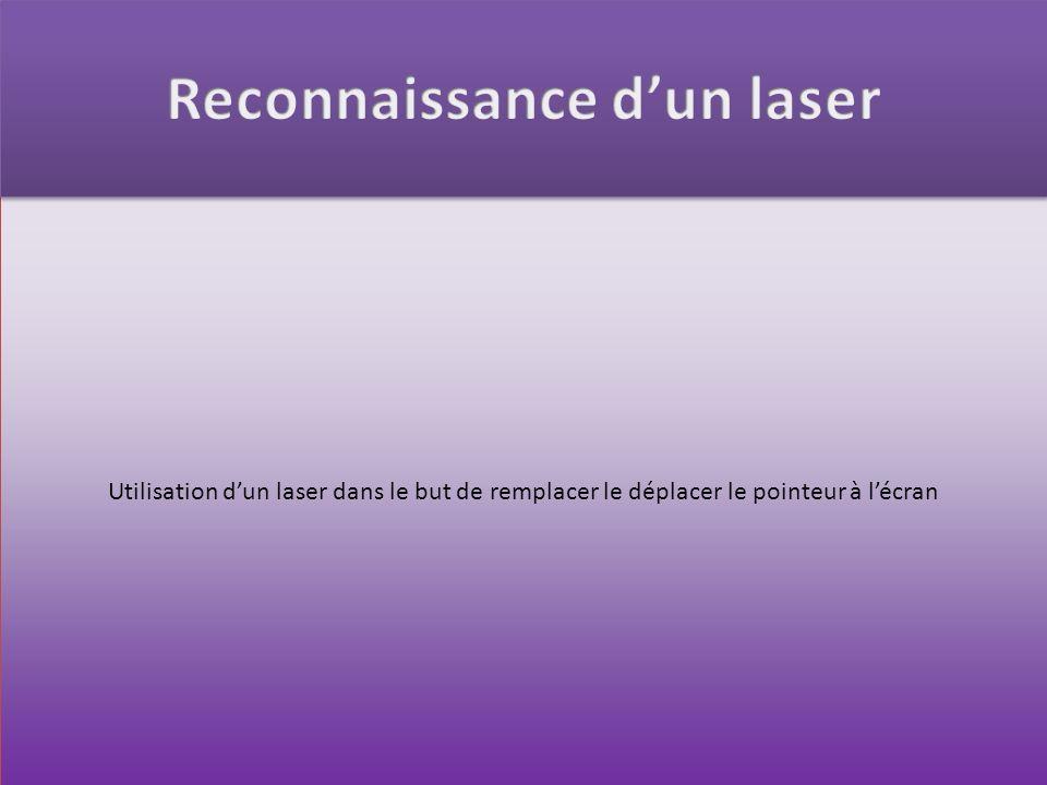 Utilisation dun laser dans le but de remplacer le déplacer le pointeur à lécran