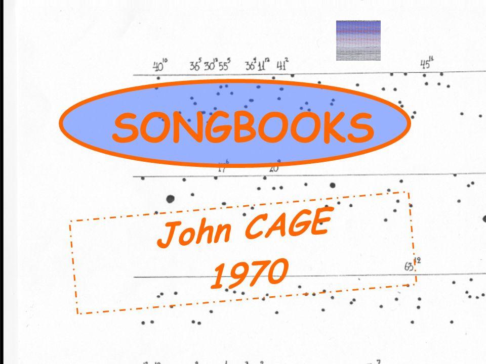 John CAGE 1970 SONGBOOKS