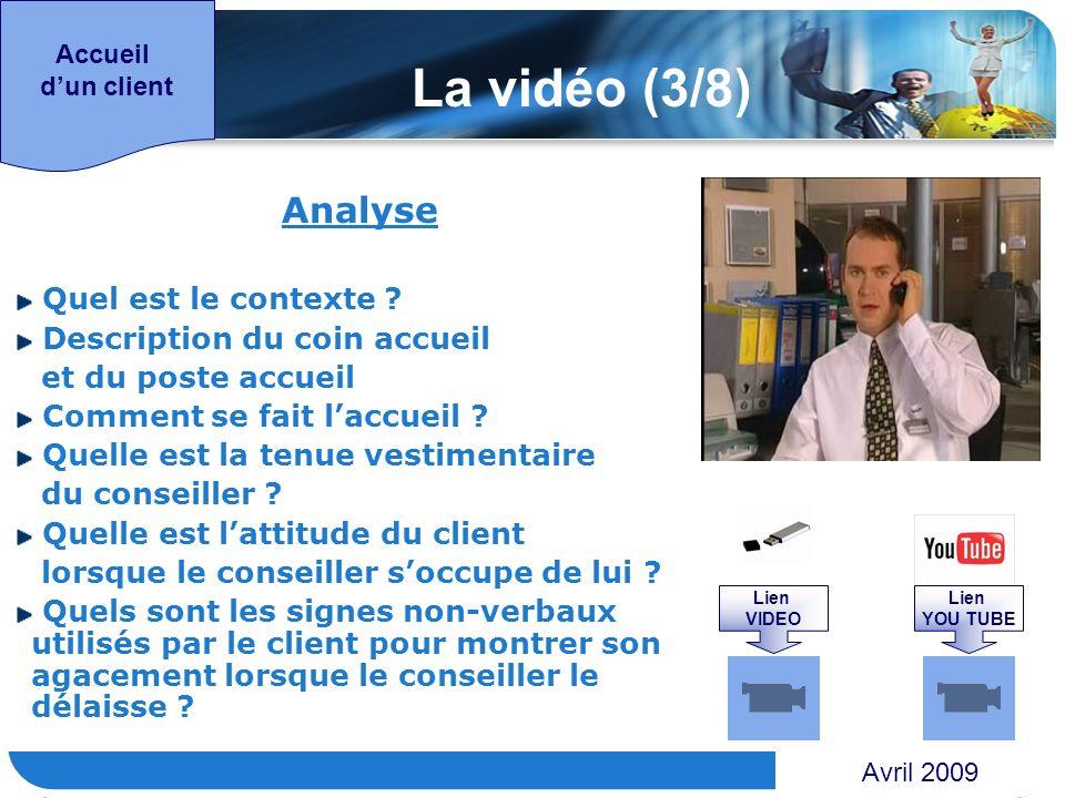 www.themegallery.com Accueil dun client Analyse Quel est le contexte ? Description du coin accueil et du poste accueil Comment se fait laccueil ? Quel