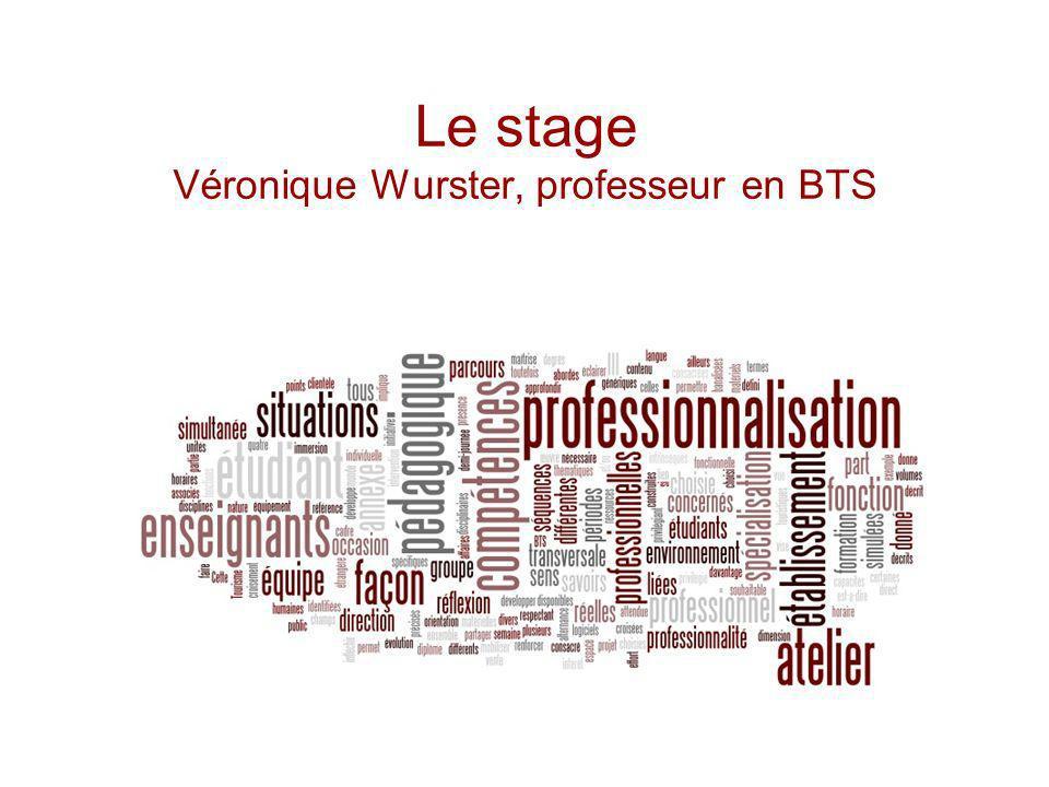 Le stage Véronique Wurster, professeur en BTS