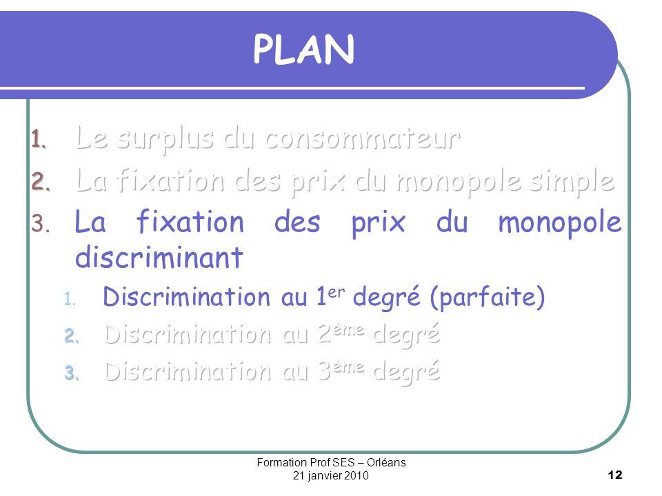 12 PLAN Formation Prof SES – Orléans 21 janvier 2010