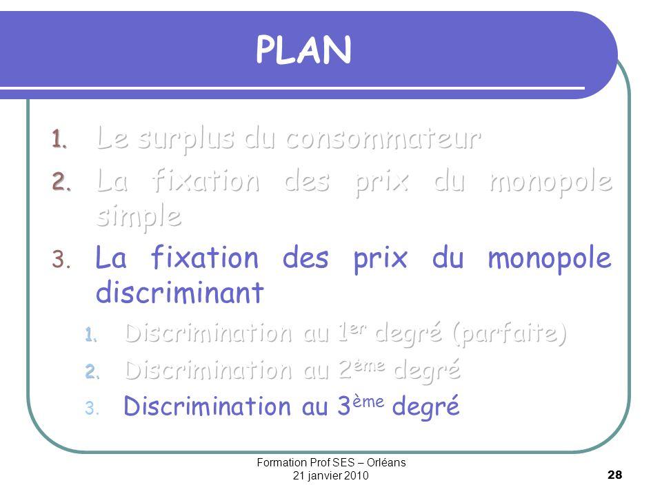 28 PLAN Formation Prof SES – Orléans 21 janvier 2010