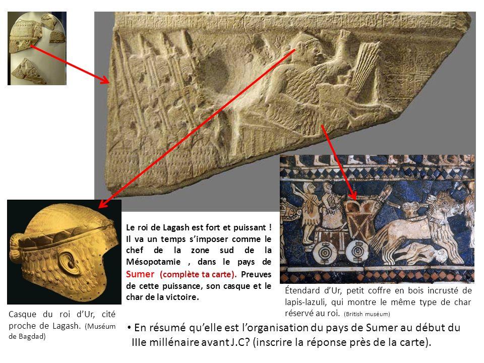 Enfin pour mieux connaître encore la civilisation des Sumériens découvrons lautre côté de la stèle des Vautours.