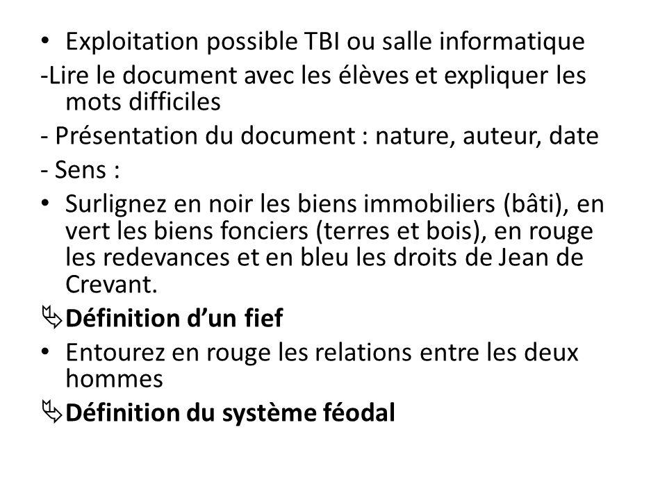 Exploitation possible TBI ou salle informatique -Lire le document avec les élèves et expliquer les mots difficiles - Présentation du document : nature