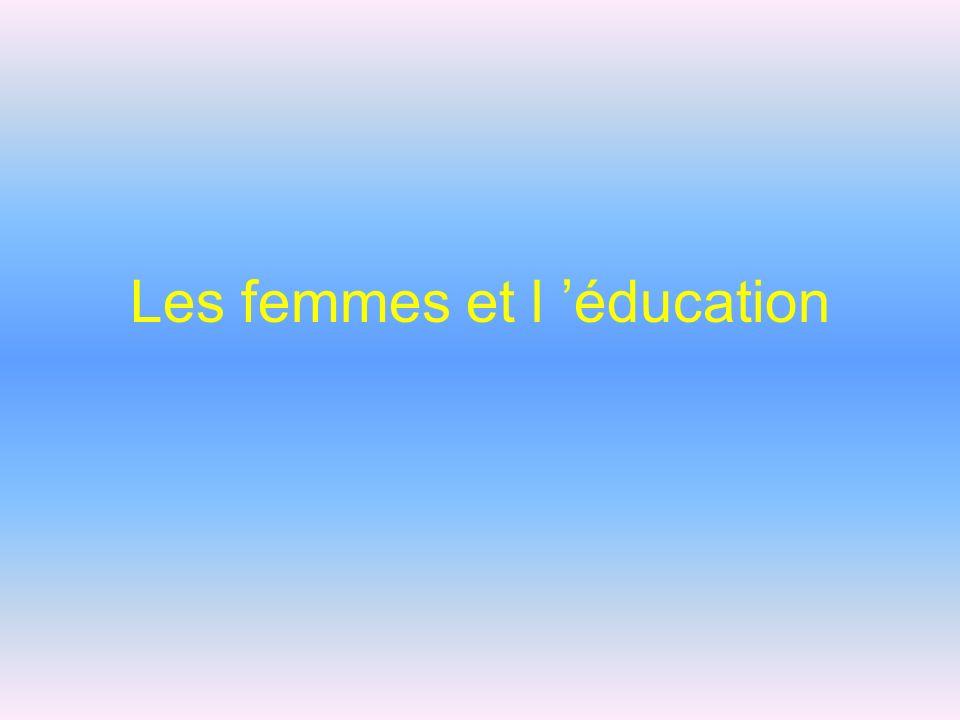 Les femmes et l éducation