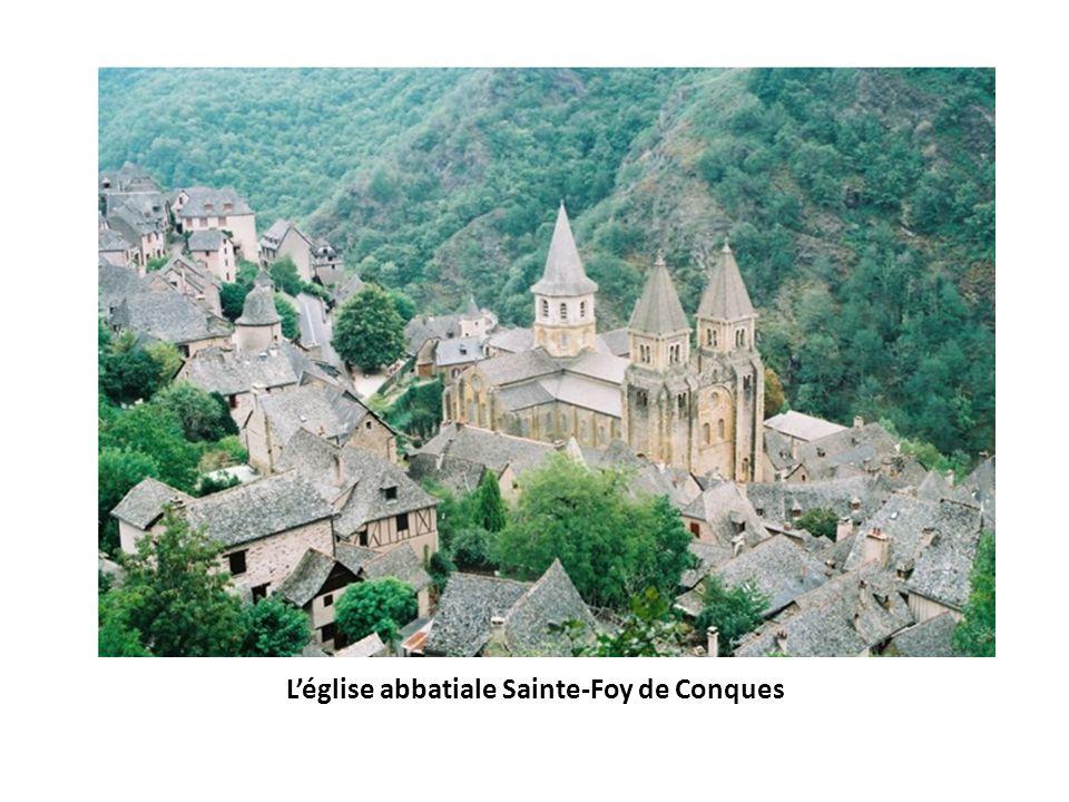 Plan de léglise Sainte-Foy de Conques