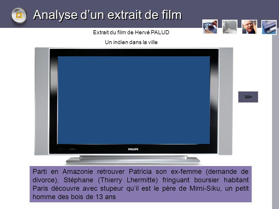 LOGO www.themegallery.com Analyse dun extrait de film Extrait du film de Hervé PALUD Un indien dans la ville Parti en Amazonie retrouver Patricia son