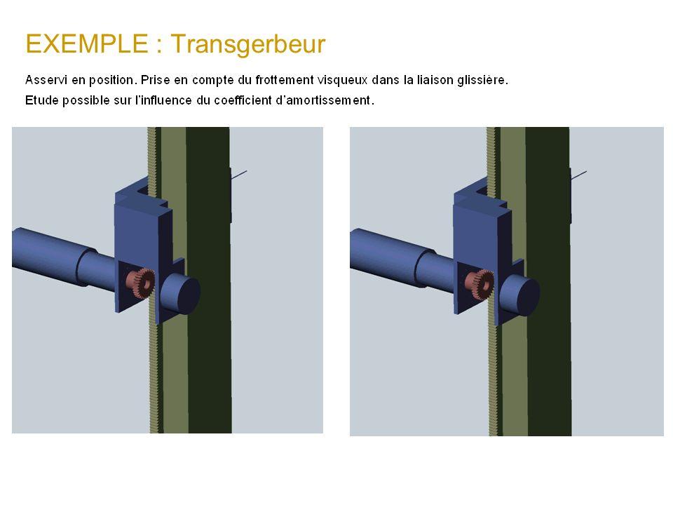 EXEMPLE : Transgerbeur