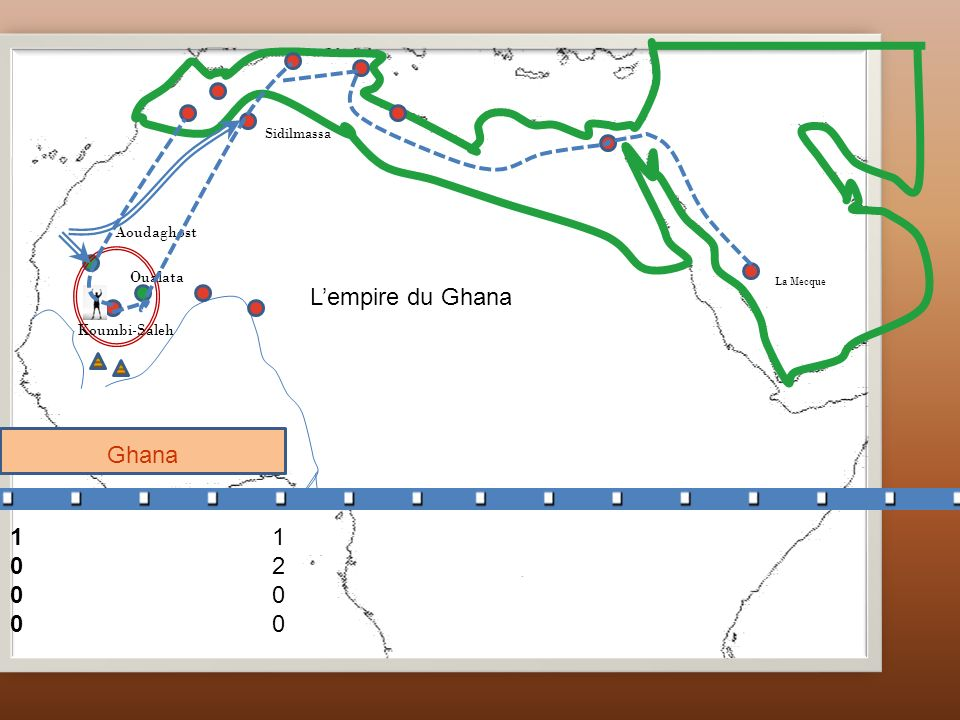 Koumbi-Saleh Oualata Aoudaghost Sidilmassa Lempire du Ghana Ghana 10001000 12001200
